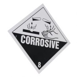 Corrosive etiket