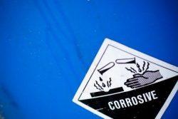 Vat met gevaarlijke stoffen